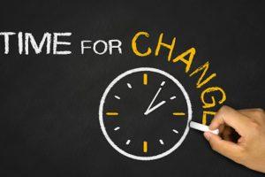 tiempo de hacer cambios